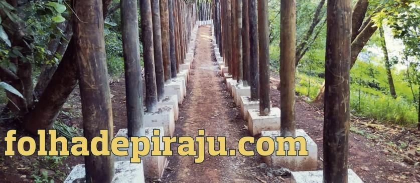 Piraju terá Trilha das Corredeiras : 25% da obra já está pronta