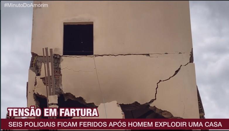 Seis policiais ficam feridos em explosão de casa em Fartura
