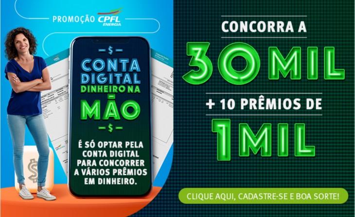 Clientes com conta digital podem ganhar prêmios em promoção inédita da CPFL Santa Cruz