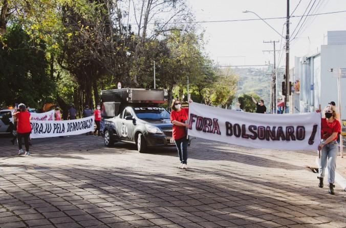 Evento #forabolsonaro reuniu manifestantes em Piraju