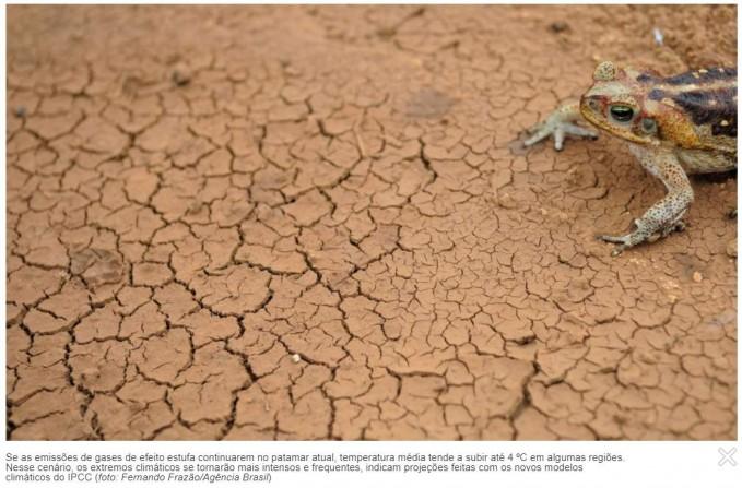 Secas na América do Sul podem aumentar até final do século 21 (agência Fapesp)